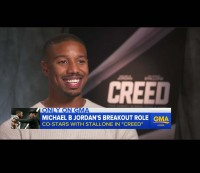 "Michael B. Jordan appears on ""Good Morning America"" on Monday, November 23."