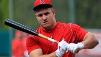 Watch: Mike Trout Is so Pumped for Baseball, He's Running With a 135-lb Barbell on His Back