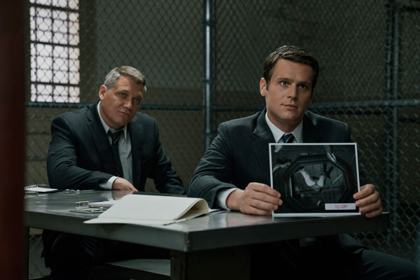 Holt McCallany and Jonathan Groff on Netflix's series 'Mindhunter'