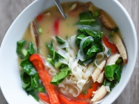 Recipe: How to Make Vegan Rice Noodle Miso Soup