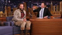 Actor Jason Momoa during an interview with host Jimmy Fallon on January 22, 2018