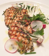 NBA FIT Live Healthy Week: Mixed Green Salad With Herbed Grilled Chicken and Lemon