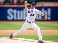 Noah Syndergaard pitches for the New York Mets