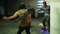 Norman Reedus battles hoverboard-riding zombies on 'Jimmy Kimmel Live'