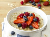 Bowl of healthy Oatmeal and Fruit