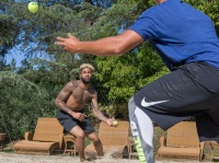 Odell Beckham training with Jamal Liggin