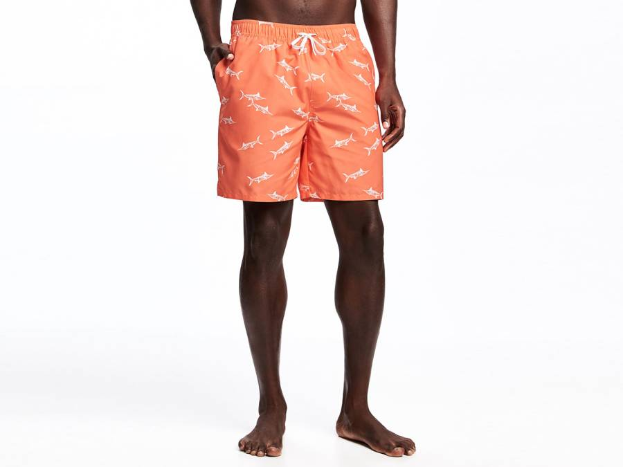 The best swimsuit if you've got a belly: Printed Swim Trunks by Old Navy