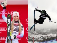 Gus Kenworthy of the United States, Lindsey Vonn of USA