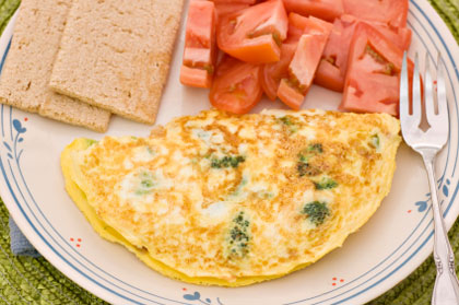 Cheese and Seafood Omelet