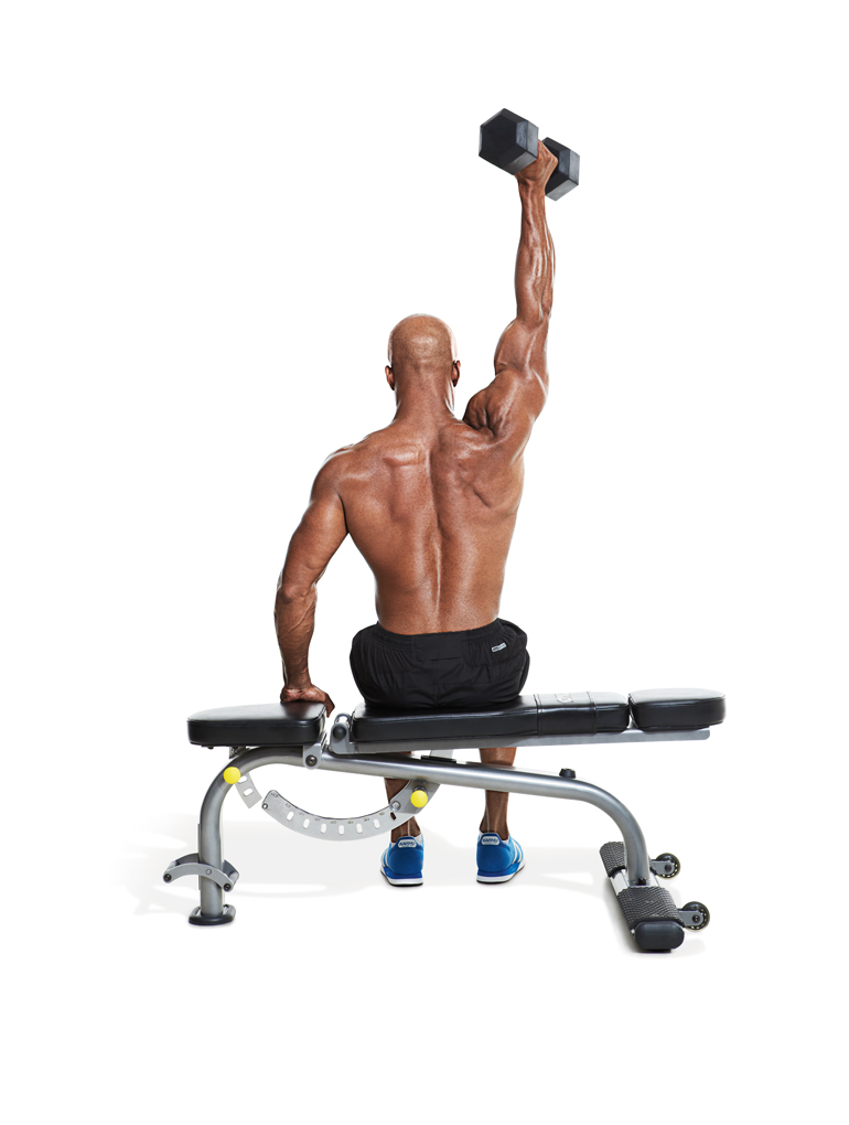 One arm overhead extensions.