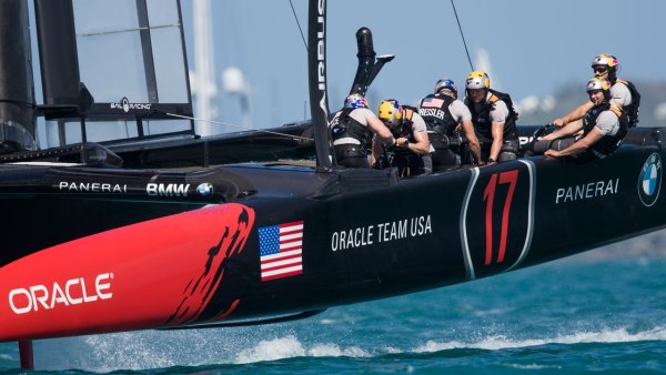 Oracle Team USA sailing in Bermuda