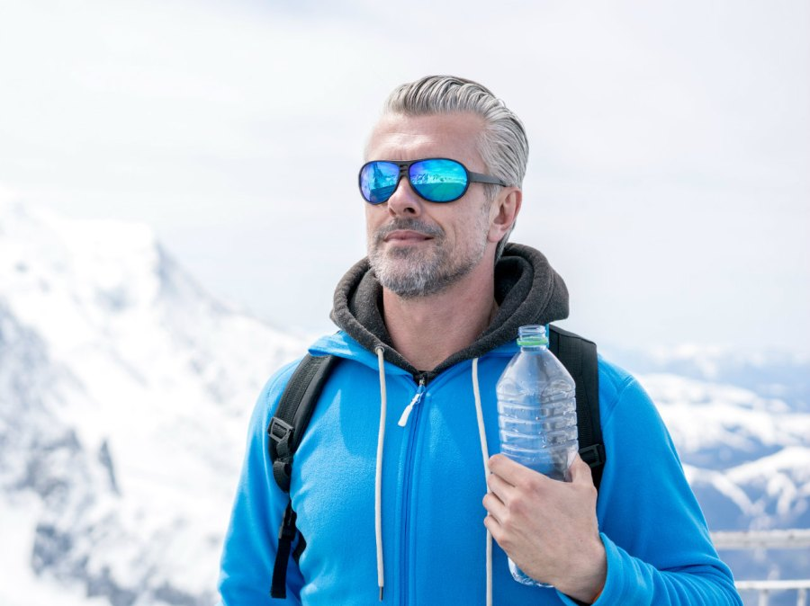 Man outdoors during winter