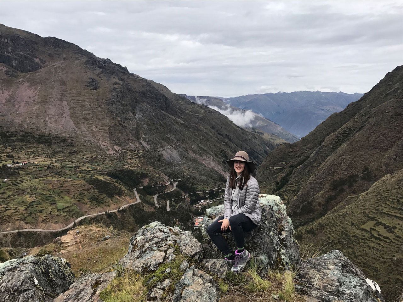 Men's Fitness digital editor Brittany Smith hikes in Peru.