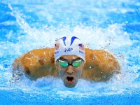 Michael Phelps during the Men's 200m at Rio 2016 Olympic Games