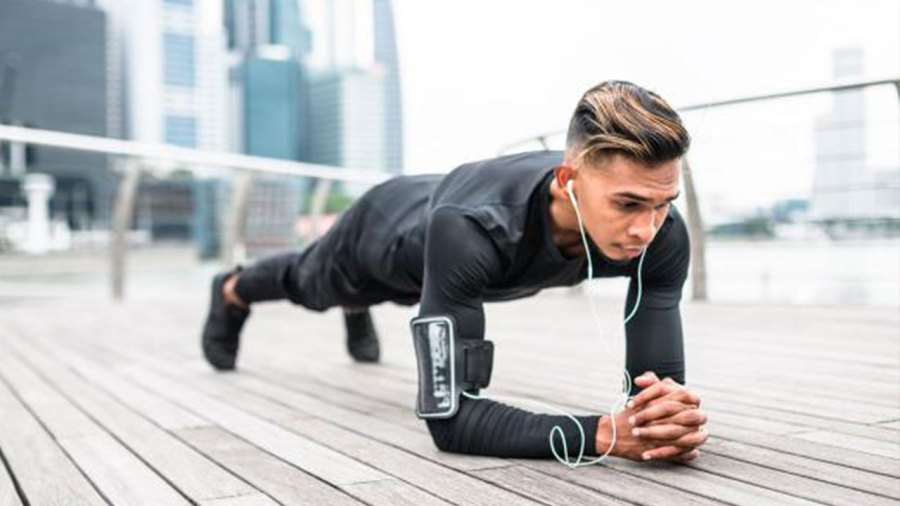 Plank hold abs