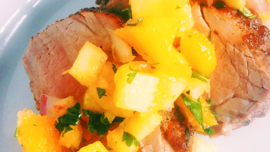Jerk Pork Tenderloin With Pineapple Mango Salsa