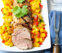 Tequila Pork with Tropical Salsa