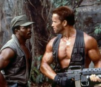 Arnold Schwarzenegger and Carl Weathers in 'Predator.'