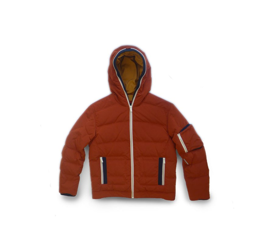 Color Blocked Down Insulated Bomber