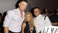 Giancarlo Stanton, Tammy Torres and AJ Ramos