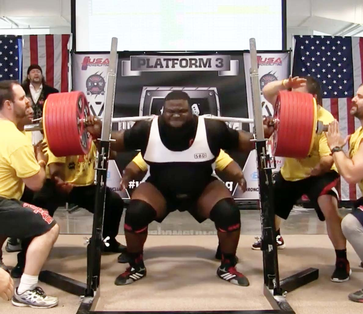 ray williams sets powerlifting record with 1 005 pound raw squat