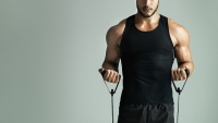 Build muscle with resistance bands
