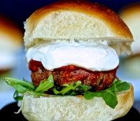 Little Italy Meatball Sliders with Whipped Ricotta