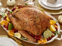 Roast Turkey with Cranberry and Honey Glaze