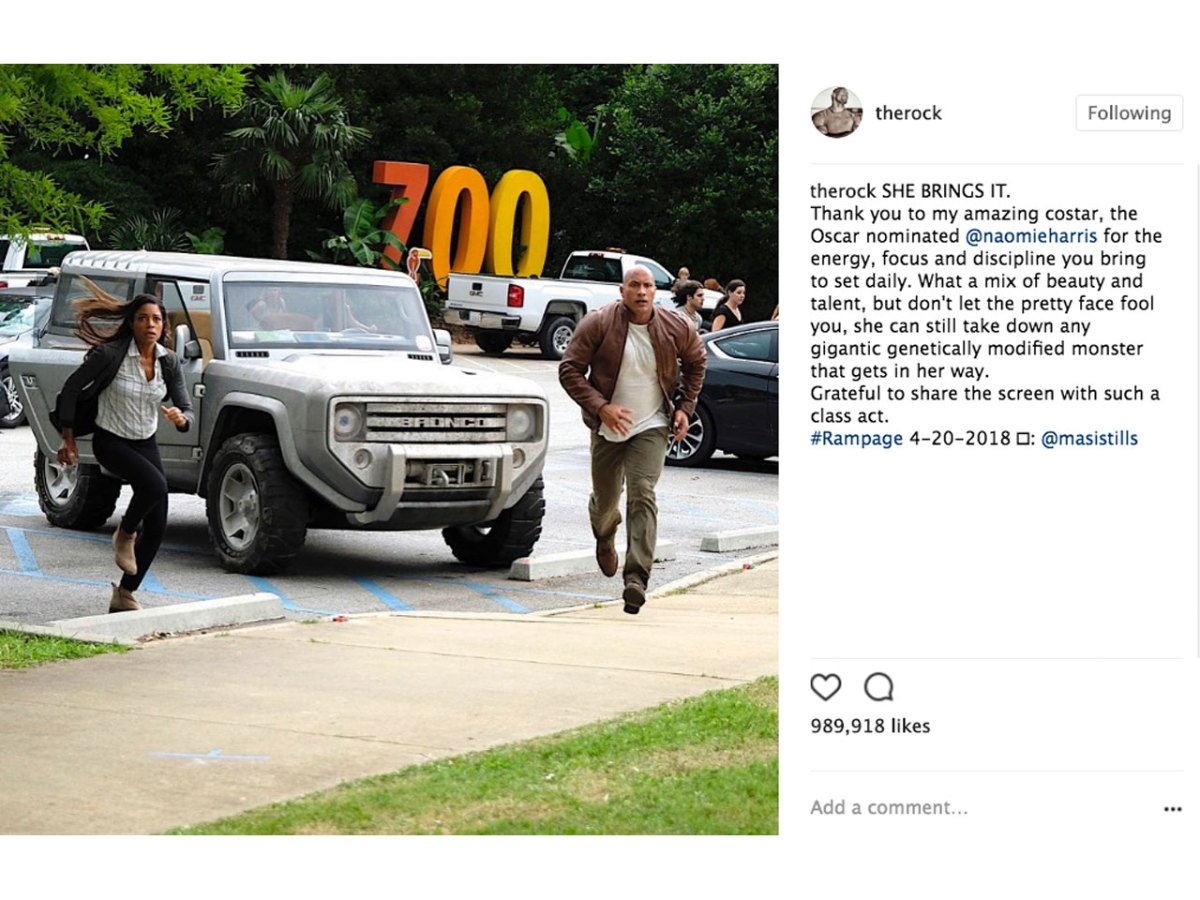 rampage movie new ford bronco