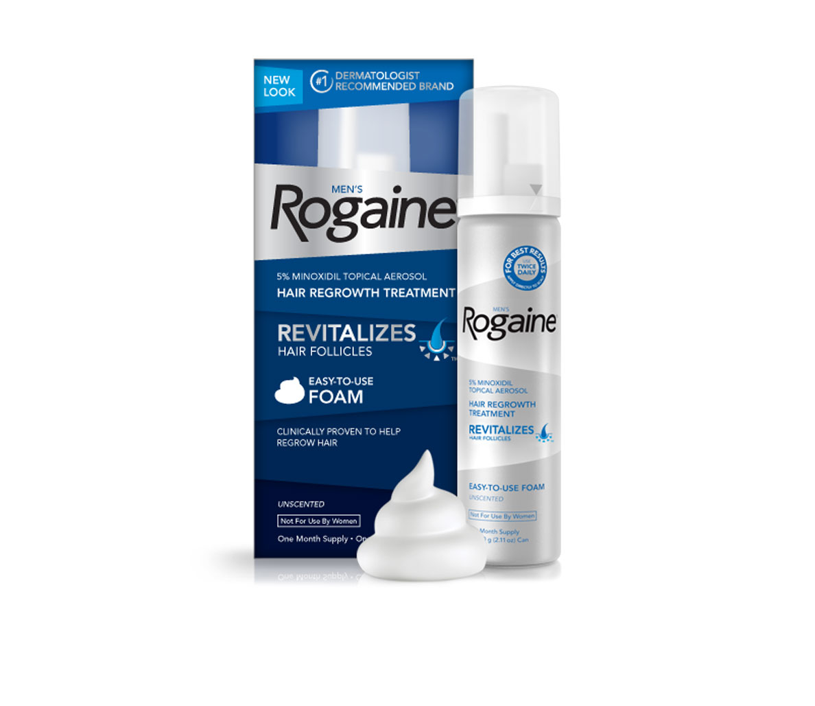 Rogaine Menu0027s Unscented Foam