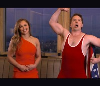 Ronda Rousey and Beck Bennett promo Saturday Night Live.