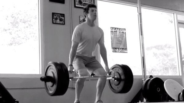 Rory McIlroy Performing Deadlift