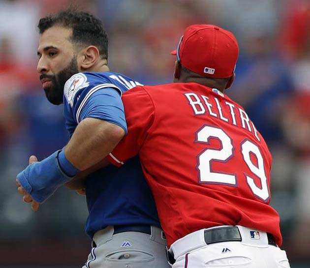 Jose Bautista, Roughened Odor MLB Fight