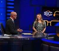 "Ronda Rousey appears on ""SportsCenter"" on Oct. 7, 2015"