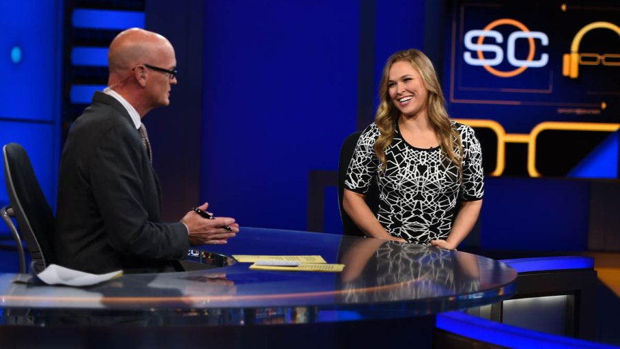 """Ronda Rousey appears on """"SportsCenter"""" on Oct. 7, 2015"""