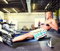 Interval training with rowing machine