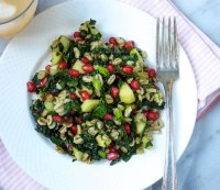10. Farro with Pomegranate and Apple