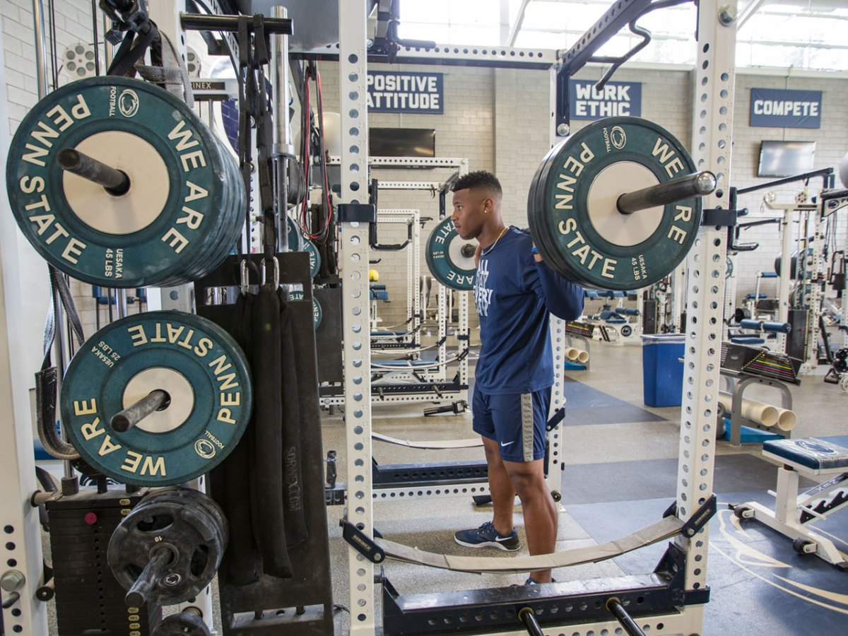 Here Are Saquon Barkley's Strongest Weight Room Lifts from