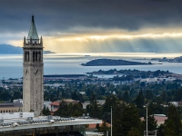 View Of Sather Tower And The UC Berkeley Campus