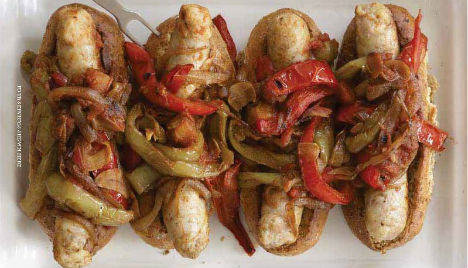Rocco DiSpirito's Leaner Sausage and Peppers