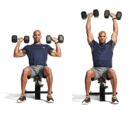 2. Seated Dumbbell Military Press