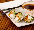 Chicken Summer Rolls With Honey-Lime Dipping Sauce