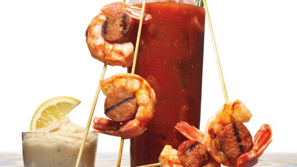 Shrimp Chorizo Skewers