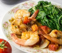Paleo Garlic and Herb Shrimp With Vine Ripe Tomatoes