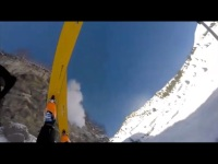 Watch: Skier falls off a mountain and survives