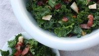 Bacon and kale salad