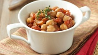 Curried Chickpeas in Coconut-Peanut Sauce