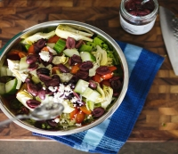 13. Recipe: Greek Salad with Chicken