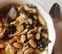 28. Recipe: White Bean, Leafy Green and Chicken Soup