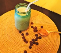 Peanut Butter Chocolate Banana Protein Smoothie